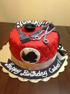 Image result for hairdresser 18th birthday cake ideas