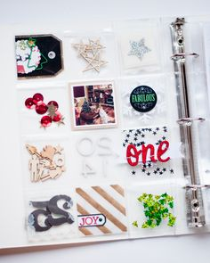 Love all the little pockets and festive sparkle! Alexes Marie Brown - December Daily
