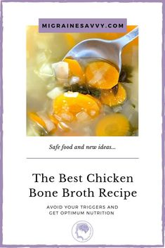 What food for migraine can help before, during and after an attack? Bone broth is neuroprotective so it should also help stop attacks. Here's my favorite recipe. Headache Diet, Migraine Diet, Slow Cooker Recipes, Diet Recipes, Chicken Bone Broth Recipe, Foods For Migraines, Recipe For 2, Food Experiments, Paleo