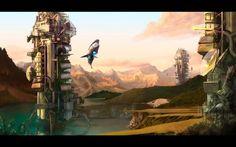 Fantasy Sci Fi Towers Wallpaper