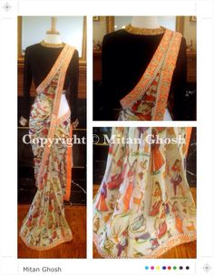 I don't know if I would wear this but the print design is so cool! Indian Designer Sarees, Indian Sarees, Indian Attire, Indian Wear, Indian Dresses, Indian Outfits, Pretty Dresses, Beautiful Dresses, Desi Clothes