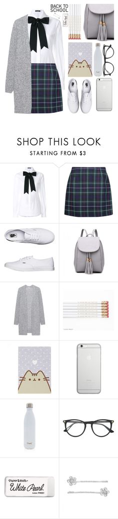 """Here I come, School."" by soranamikaze ❤ liked on Polyvore featuring Dolce&Gabbana, Vans, Acne Studios, Pusheen, Native Union, S'well, Gucci, Paper Mate, LC Lauren Conrad and BackToSchool"