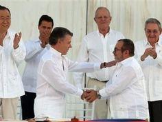 Gobierno y FARC firman la paz en Colombia