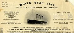 A third-class (steerage) passenger's contract ticket for the White Star Line, similar to those used on the Titanic. (Records of District Cou...