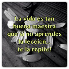 #FraseDelDia La vida es tan buena maestra que si no aprendes la lección te la repite