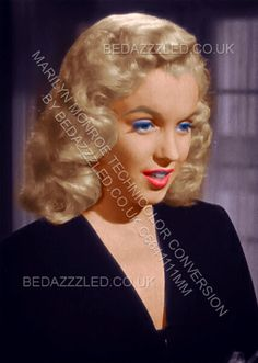 MARILYN MONROE TECHNICOLOR CONVERION BY BEDAZZZLED FROM B/W PRINT