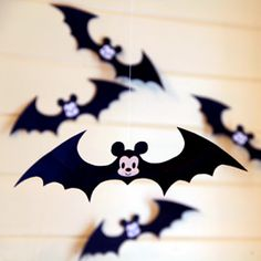 Mickey Cutie Halloween Bats are a perfect craft and decoration for little ones that much prefer treats to tricks, and aren't quite ready for more frightful decor.