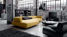 The 2010 Living Room Furniture Collection from BoConcept - Yellow and Black Sofa