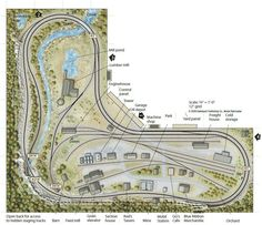 A great amount if track work in a small area layout