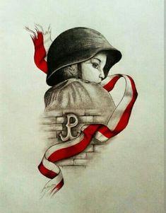 Baby's Got the Blues Sketch Painting, Drawing Sketches, Drawings, Polish Symbols, Hannah Tattoo, Poland Tattoo, Polish Tattoos, Warsaw Uprising, Poland History