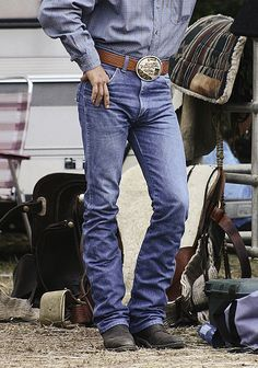"""blue jeans by picman1107 on flickr; """"nothing like a guy in a pair of boots and wranglers."""""""
