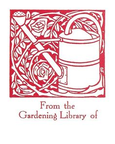 Bookplate for Your Gardening Books | Content in a Cottage