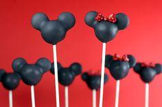 Black Mickey & Mini-Mouse Cake Pops