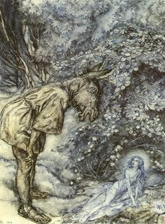 Act 3 Scene 1 Titania and Bottom A Midsummer Night's Dream Arthur Rackham at Art Passions