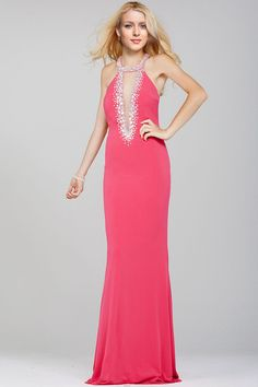 Mermaid Halter Court Train Prom Dresses with Beading Open Back