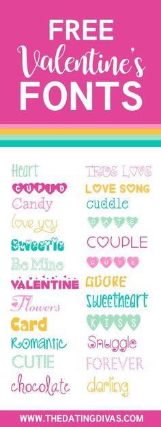 FREE fonts for Valentine's Day!