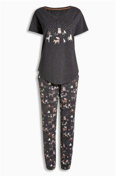 Acheter Gris Woodland Pyjamas de la boutique en ligne Next Royaume-Uni