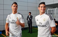 CR7 & James Real Madrid official photograph for the 2014/15 season,