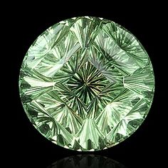 "round ""concave multifocus""™ cut mint prasiolite by gems by design, inc."