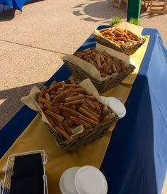 Churros Dessert Station Summer Beverage Station #DenverZooCatering #TasteCatering #DenverZoo