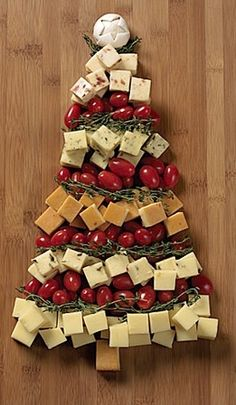 A Cheese Christmas Tree