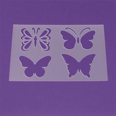 Schablone A3 Butterfly 4 Schmetterlinge - LM36 von Lunatik-Style via dawanda.com
