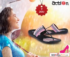 Achieve great elegance with these synthetic slippers that are just perfect for the monsoons. See more here