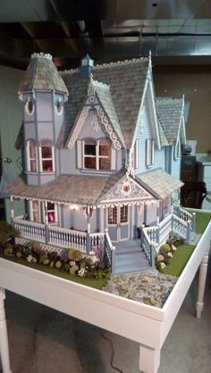 "Front Door of my Pierce miniature dollhouse-""Painted Daisy"""