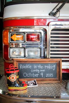 Firefighter Pregnancy Announcement Pictures - Pregnacy and moms Firefighter Pregnancy Announcement, Pregnancy Announcement Pictures, Pregnancy Announcement To Husband, Baby Boy Announcement, Baby Announcements, Firefighter Baby Showers, Firefighter Wedding, Firefighter Family, Firefighter Pictures
