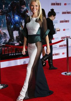 Gwenyth Paltrow in Antonio Berardi at Iron Man 3 premiere. Flawless.
