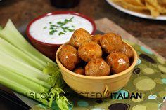 Buffalo Chicken Meatball Poppers Recipe - Better than Buffalo Wings
