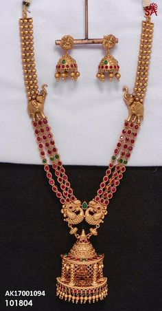 Present large choice of gold ornament stock, traditional Blonde Jewellery for ladies. 1 Gram Gold Jewellery, Gold Jewellery Design, Temple Jewellery, Gold Jewelry, Vintage Jewellery, Gold Bangles, Jewelry Shop, Antique Jewelry, Jewelry Making