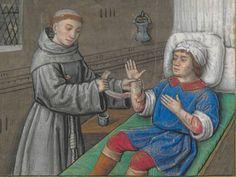 BONAVENTURE (saint), card. O.F.M. Vie et miracles de saint François d'Assise  Date d'édition :  XVe siècle, vers 1480  NAF 28640  Folio 112r