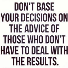 Career decision advice.