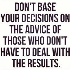 God's advice > man's opinions
