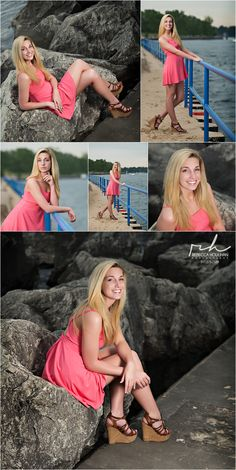 senior pictures at the beach by rebecca houlihan photography