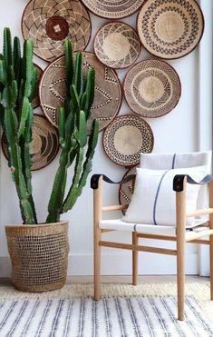 boho home accessories Tonga Wicker Wall baskets Binga African Tribal Baskets Baskets On Wall, Wicker Baskets, Decorative Wall Baskets, Home Decor Baskets, Picnic Baskets, Decorative Accents, Decorative Items, Home And Deco, Bohemian Decor