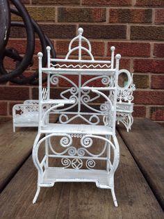 Vintage Ornate Victorian Wire Rattan/Wicker Dollhouse by HUEisit