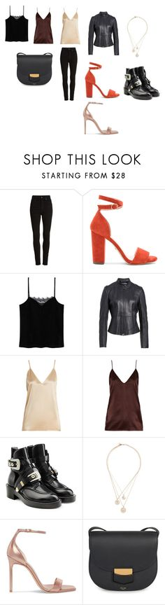 """вечер"" by shivatrance on Polyvore featuring мода, Citizens of Humanity, Raye, MANGO, BOSS Hugo Boss, Raey, Balenciaga, Givenchy, Yves Saint Laurent и CÉLINE"