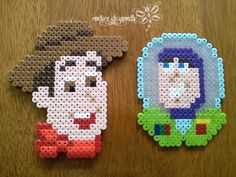 Woody and Buzz Lightyear Toy Story hama perler beds by RockerDragonfly