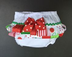 Items similar to Diaper cover with ribbons Fancy pants Bloomers Diaper cover mo size Ribbons and bow diaper cover on Etsy Red Christmas, Christmas Stockings, Baby Bloomers, Diaper Covers, Fancy Pants, Xmas Ornaments, Grosgrain, Little Girls, Bows