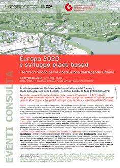 """Eventi Consulta all'Urbanpromo - 13.10.2014, ore 14.30 - progetto grafico: Redazione di """"AL"""""""