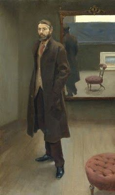 """Edward Carpenter""  by Roger Fry (1894). Subject dressed modern for his time. And this could have been painted yesterday."