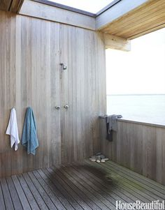 The outdoor shower off the master bedroom is architect and owner Cary Tamarkin's favorite spot in the house. Design: Suzanne Shaker