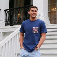 American pride in the form of a pocket  #FraternityCollection #America #Betsy