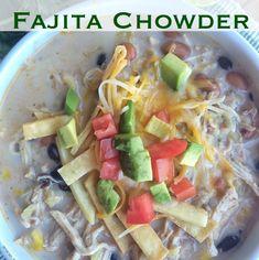 Slow Cooker Creamy Chicken Fajita Chowder - Together as Family Salada Ceasar, Fajita Seasoning Packet, Hamburger Vegetable Soup, Mild Salsa, Slow Cooker Creamy Chicken, Fiesta Chicken, Pumpkin Bundt Cake, Cowboy Caviar
