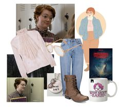 """""""Stranger Things #3 Barb"""" by wild-crybaby ❤ liked on Polyvore featuring art"""