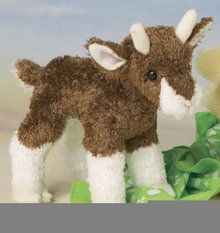 """Buffy Baby Goat 6"""" by Douglas Cuddle Toys. Available at OurPamperedHome.com"""