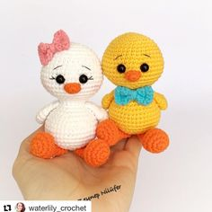 Combo Pack - Coco the Little Chicken Lovey and Amigurumi Set for Dollars - PDF Crochet PatternImage may contain: 1 person Crochet Bird Patterns, Crochet Birds, Crochet Patterns Amigurumi, Cute Crochet, Crochet Animals, Crochet Dolls, Crochet Baby, Easter Toys, Crochet Hook Sizes