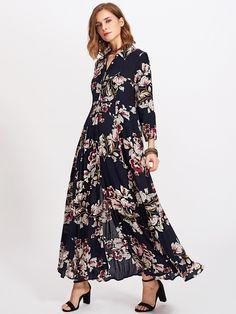 Shop Flower Print Hidden Placket Dress online. SheIn offers Flower Print Hidden Placket Dress & more to fit your fashionable needs.